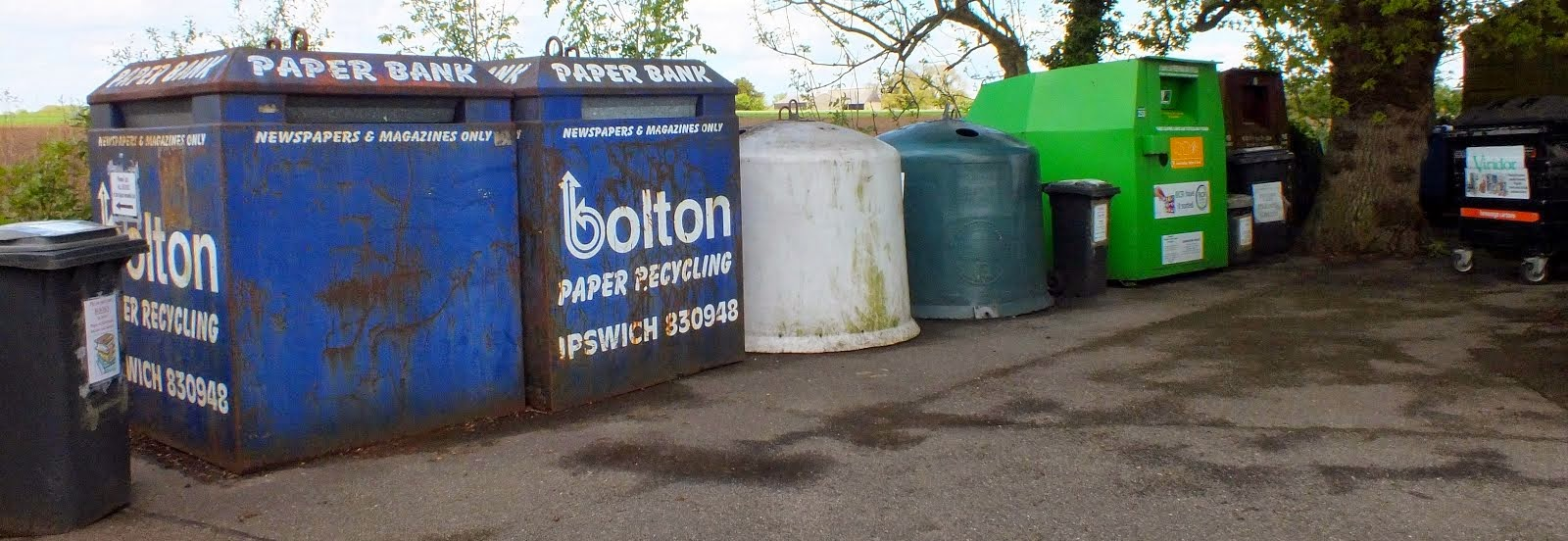 Elmsett School's Community Recycling Centre.