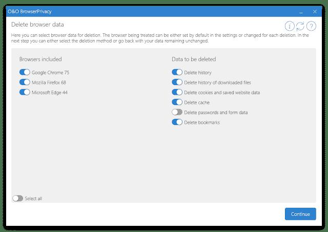 Screenshot O&O BrowserPrivacy 14.5 Build 562 Full Version