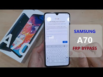 Samsung Galaxy A70 FRP Bypass Google Account without PC