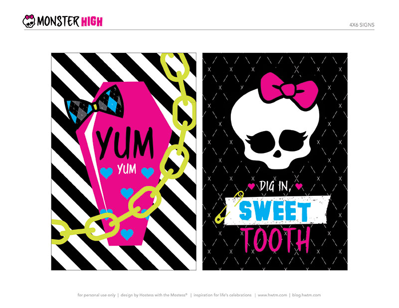 Monster High Free Printable Party Kit. | Is it for PARTIES? Is it ...
