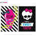 Kit para Fiesta de Monster High para Imprimir Gratis.