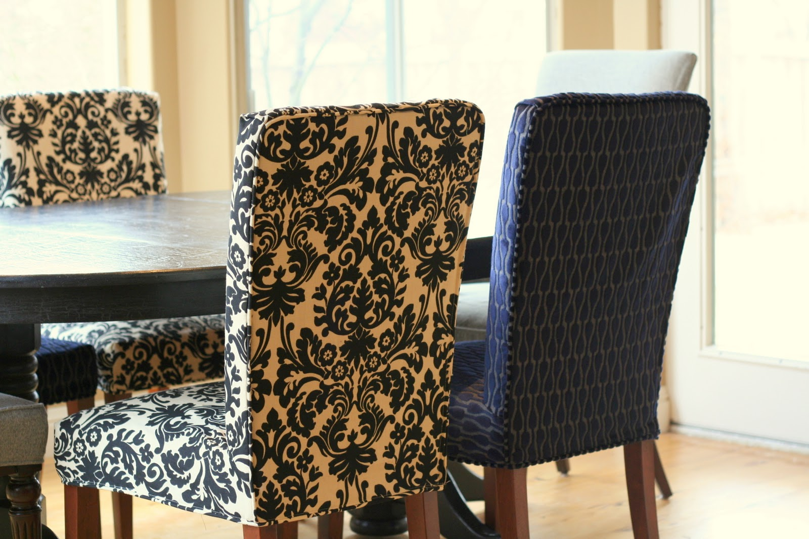 black parson chair covers pb anywhere custom slipcovers by shelley menswear dining room
