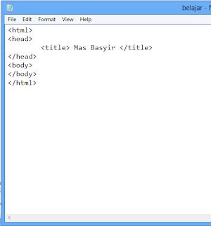 cara belajar html untuk pemula - masbasyir.com
