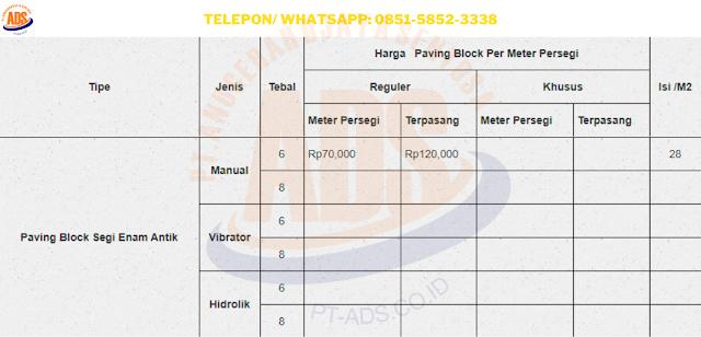 Harga Paving Block Garut Produsen, Supplier dan Jasa Pasang