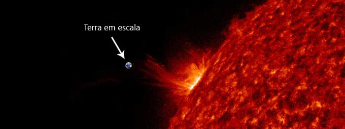maior explosão solar dos ultimos 3 anos - primeira explosão solar do ciclo solar 25