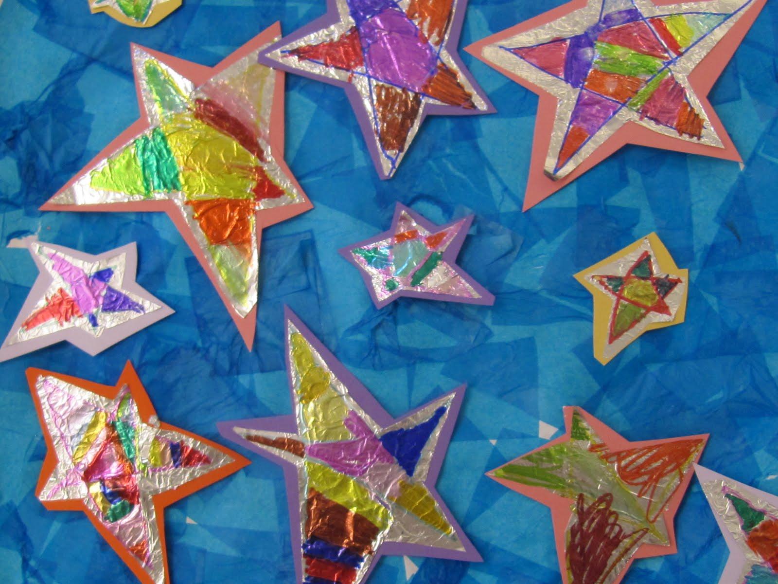 Tot School: Space - Mrs. Plemons' Kindergarten |Star Art Projects For Preschoolers