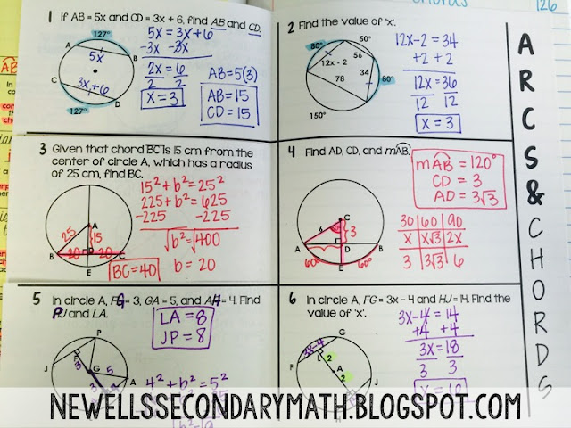 Arcs and Chords | Mrs. Newell's Math