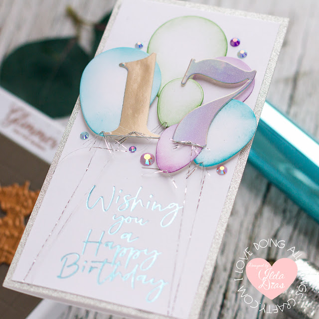 Mini Slimline, Foiled Sentiment, Birthday Card,Spellbinders Club Kits, Blog Hop,GOM March21,Card Making, Stamping, Die Cutting, handmade card, ilovedoingallthingscrafty, Stamps, how to