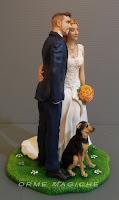 statuette artistiche per nozze top cake tops con cagnolino statuine sposi torta cane orme magiche