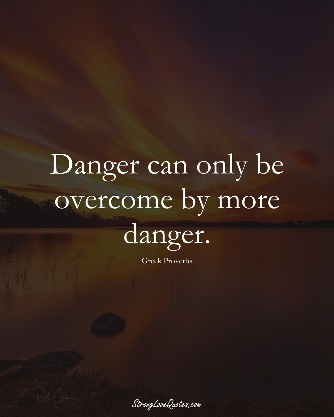 Danger can only be overcome by more danger. (Greek Sayings);  #EuropeanSayings