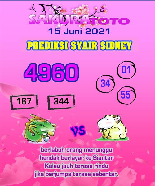 Syair Sakuratoto Sidney Selasa 15 Juni 2021