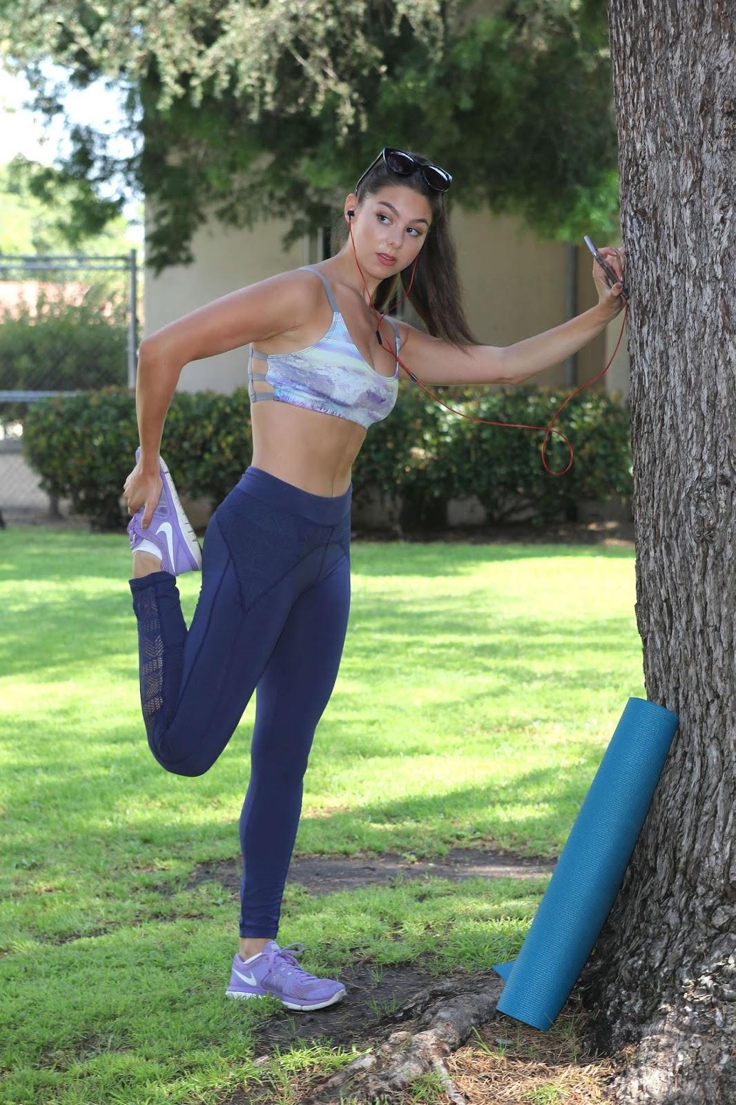 Kira Kosarin - Heading to Yoga Class in North Hollywood ...