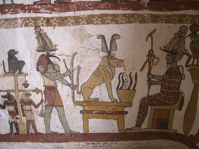 Paintings from the tomb of Petosiris at Muzawaka (XLI)