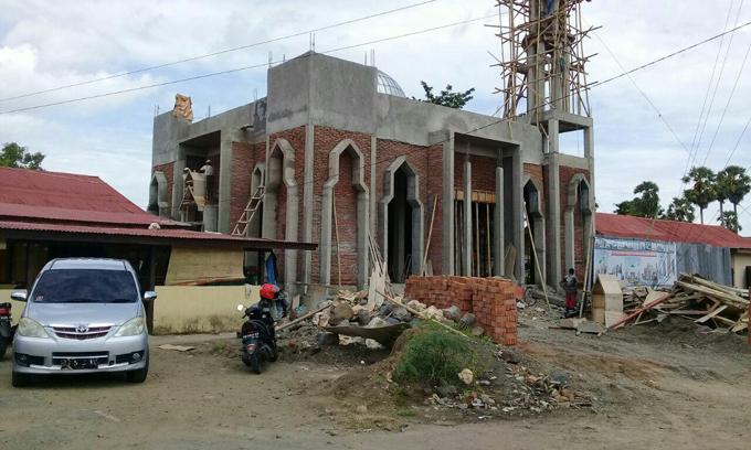 Pembangunan Masjid Al-Ikhlas Ditargetkan Rampung Sebelum Ramadan