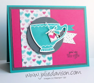 Stampin' Up! Occasions Catalog Sneak Peek: A Nice Cuppa stamp set for Pocket Sketch Challenge #2 www.juliedavison.com #stampinup