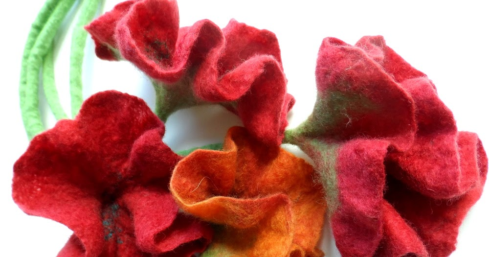 Felters Journey Tutorials Felting Flowers