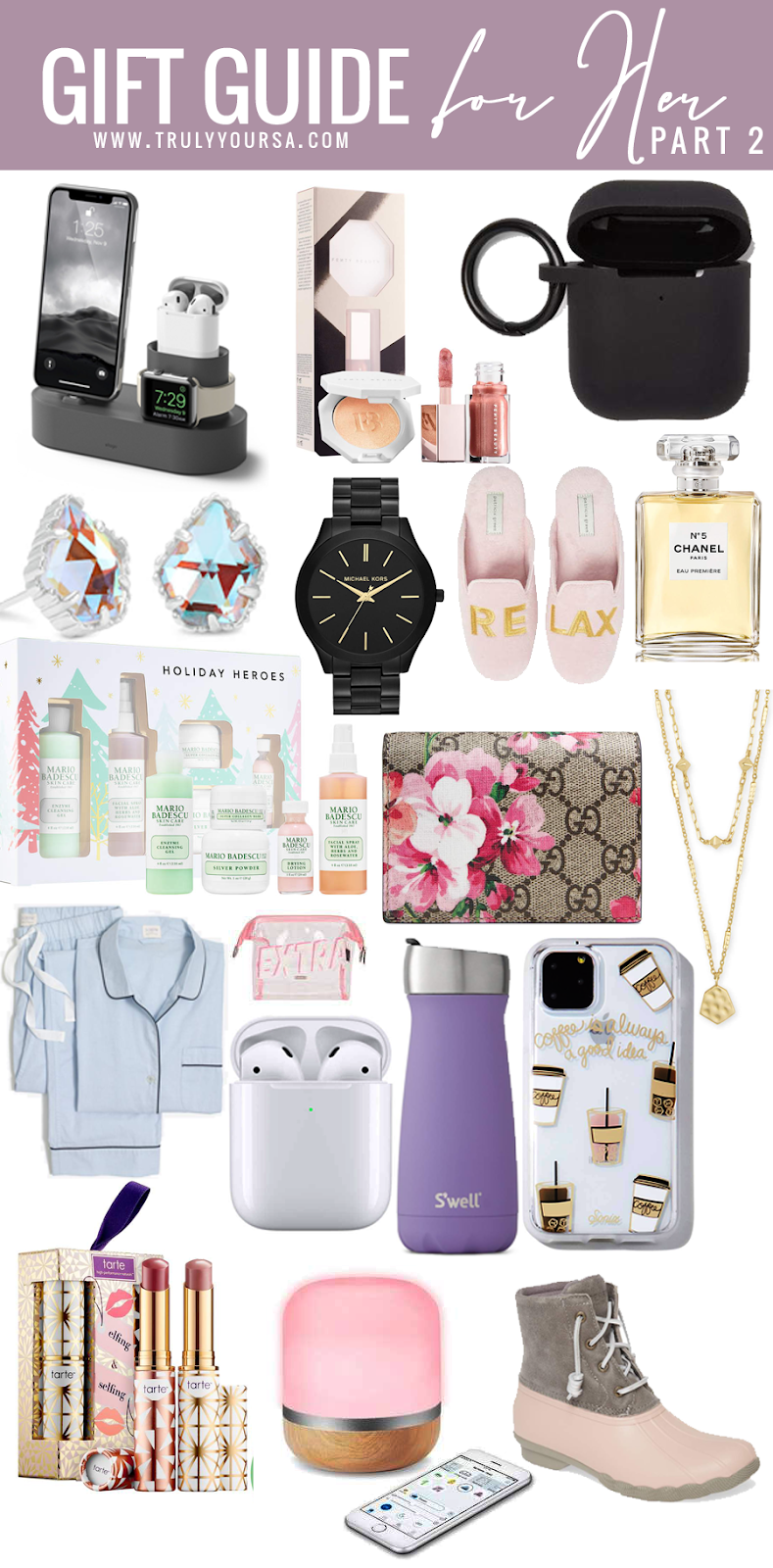 We officially have 36 days left until Christmas! I'm trying to get my Christmas shopping done early this year and that inspired me to get this gift guide up ASAP for y'all. If you're still looking for the perfect gift for any ladies in your life I hope this gift guide can give you a few ideas. If you want more ideas check out my first gift guide for her, a lot of the items are still available! #giftguideforher #giftideasforher #giftguide #giftguide2019