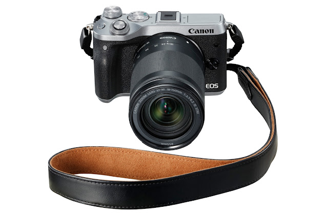 Canon EOS M6 Silver with Black Strap