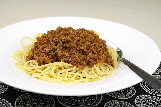 Spaghetti z sosem bolonskim