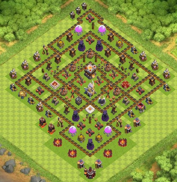 Base Town Hall 11 Clash of Clans Hybrid