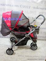 Kereta Bayi BabyDoes CH278 Parade-X Tongkat Dorong dari Depan atau Belakang 4