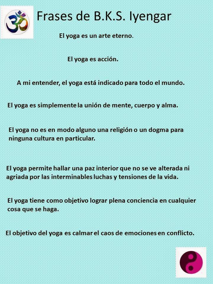 Yoga Arco Iris Frases De Bks Iyengar