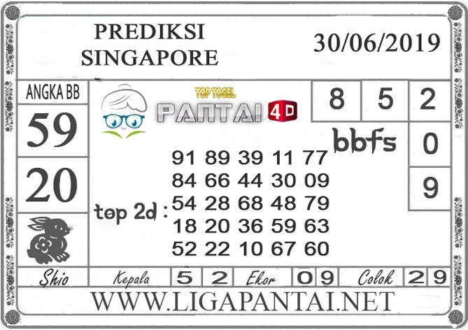 """PREDIKSI TOGEL """"SINGAPORE"""" PANTAI4D 30 JUNI 2019"""