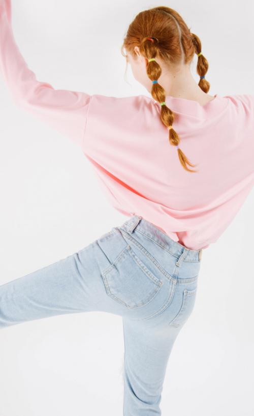 Busted Knee Frayed Hem Jeans