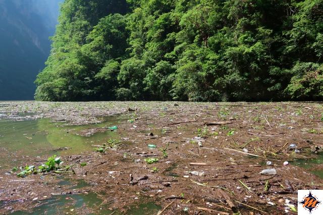 Cañon del Sumidero, rifiuti