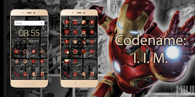 Tema Xiaomi Invisible Iron Man