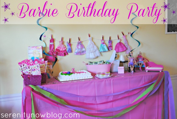 Barbie Birthday Party, from Serenity Now