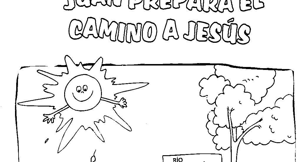 Dibujos Para Colorear San Juan: Imagen De Juan Bautisando En El Río Jordan Para Colorear