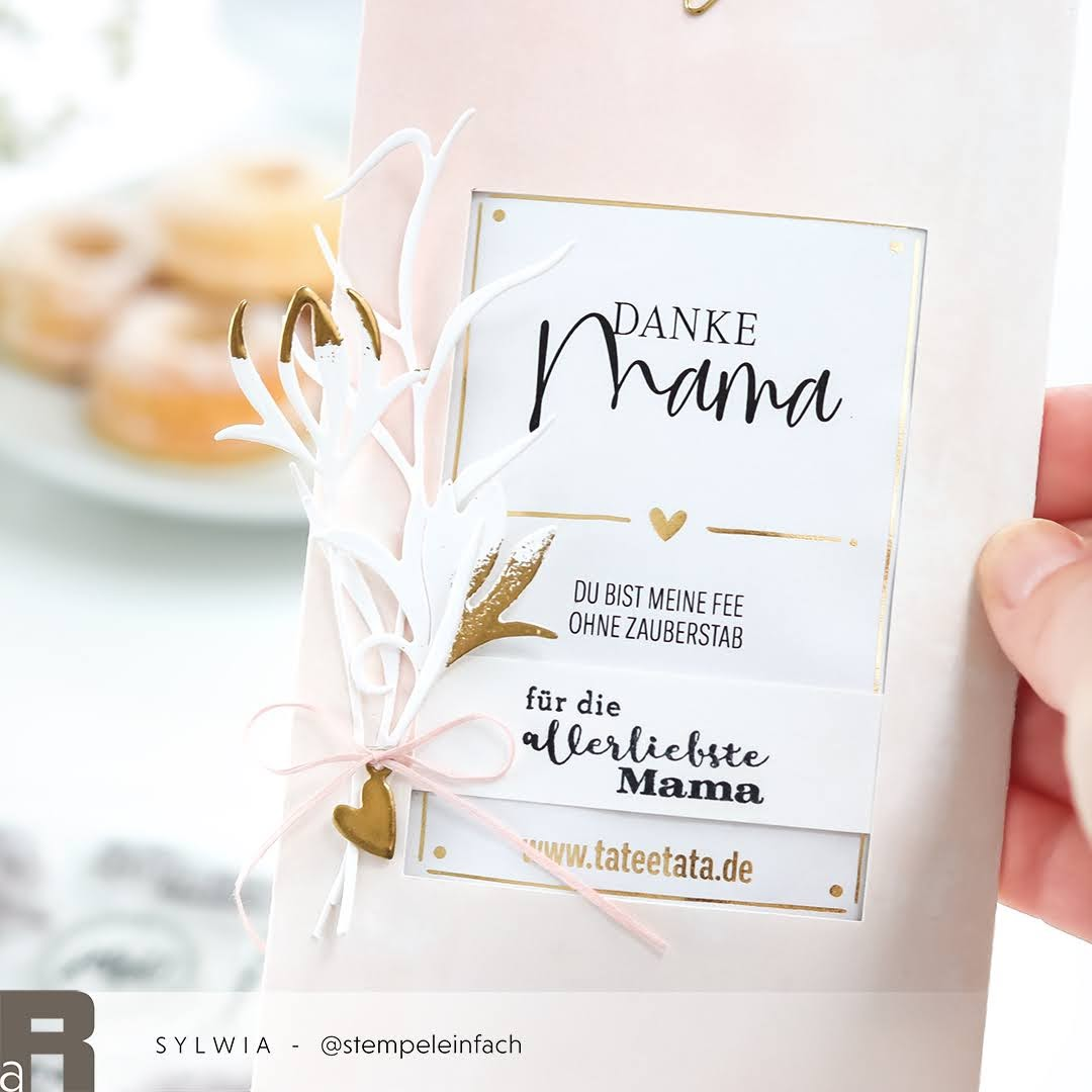 Verpackung Teegeschenk Muttertag