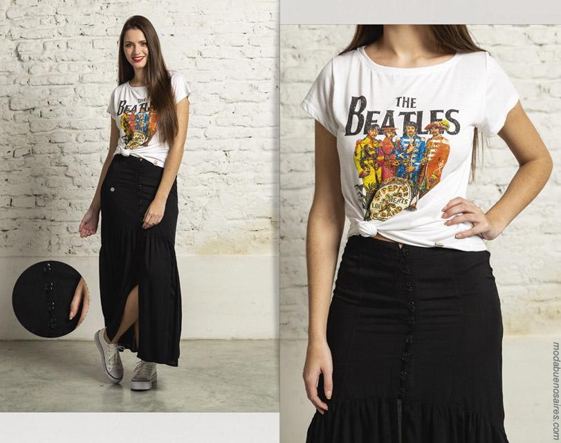 Maxifaldas ropa de moda primavera verano 2020.