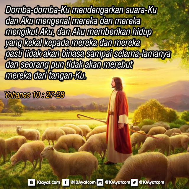 Yohanes 10 : 27-28