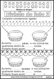 Divisão do fato 2 ilustrada