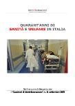 Quaderno 8. Quarant'anni di sanità e welfare in Italia