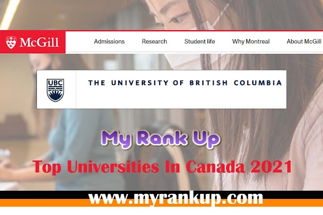 Top Universities In Canada 2021