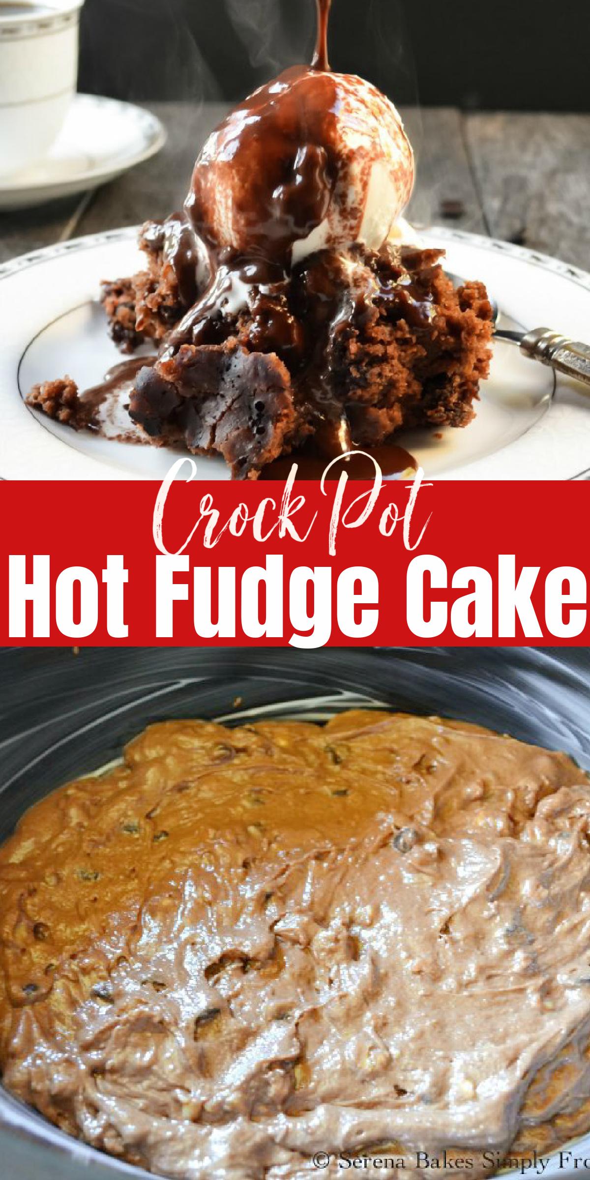Easy to make Slow Cooker Hot Fudge Cake Recipe