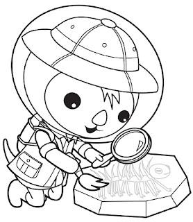 דפי צביעה לילדים בגיל הרך אוקטונאוטים