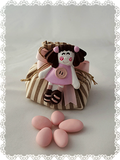 bomboniere gesso bimba rosa