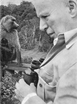 Чарльз Чаплин на отдыхе в Кении, 1958 г.