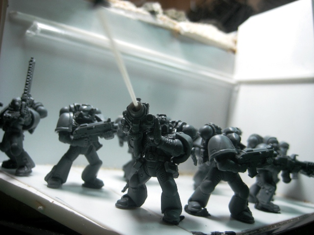 Space Marines diorama WIP photo