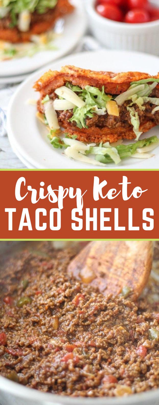 TACO CHAFFLE RECIPE: DELICIOUS CRISPY KETO TACO SHELLS #lowcarb #diet #healthy #ketogenic #taco