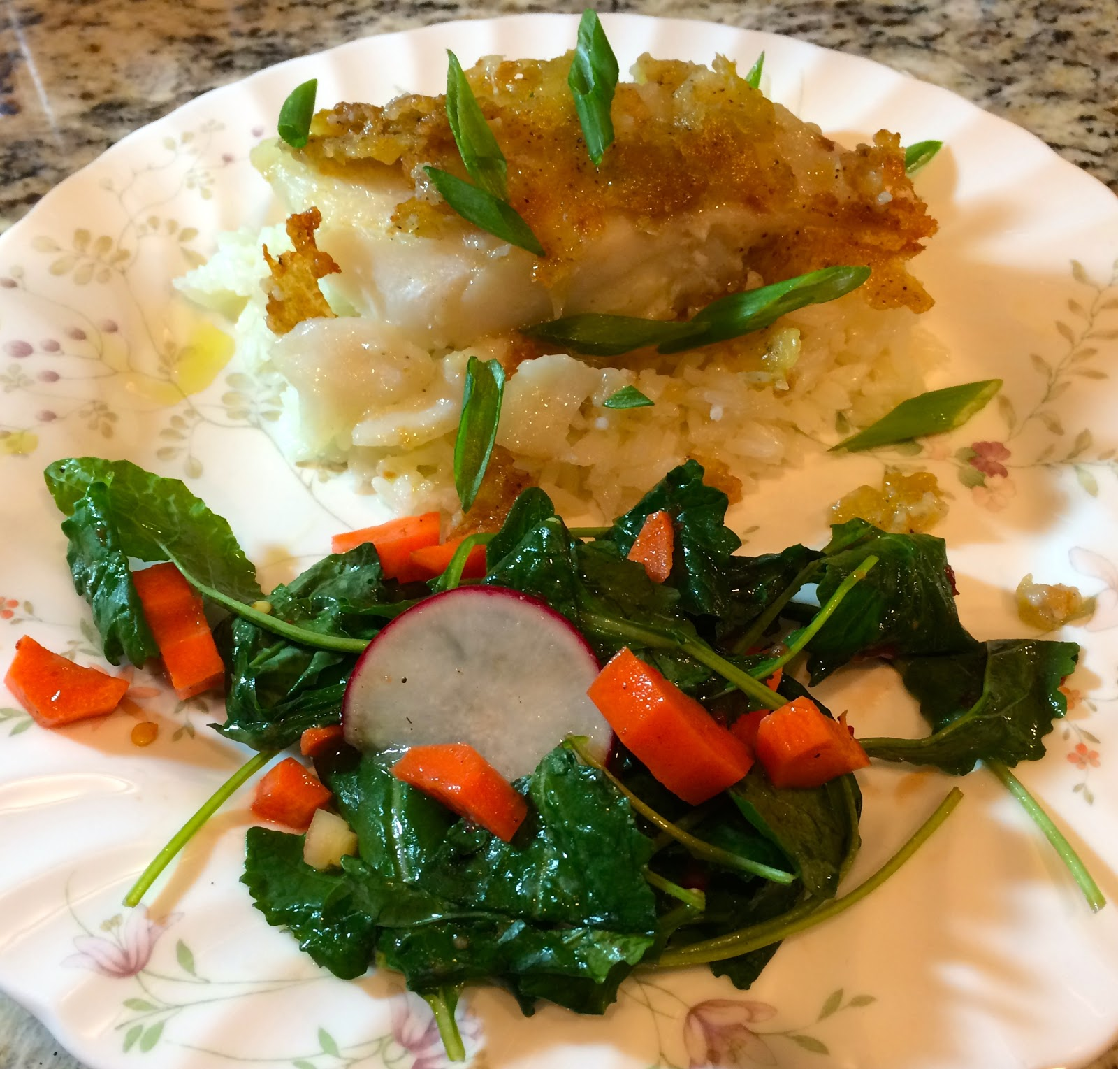 Blue apron tempura cod - Tempura Fried Cod With Thai Style Vegetable Salad Jasmine Rice