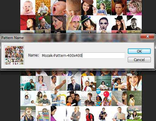 Definisikan lagi pattern mozaik