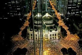Manifestação golpista no RJ em 2013 por R$ 0,20 centavos.