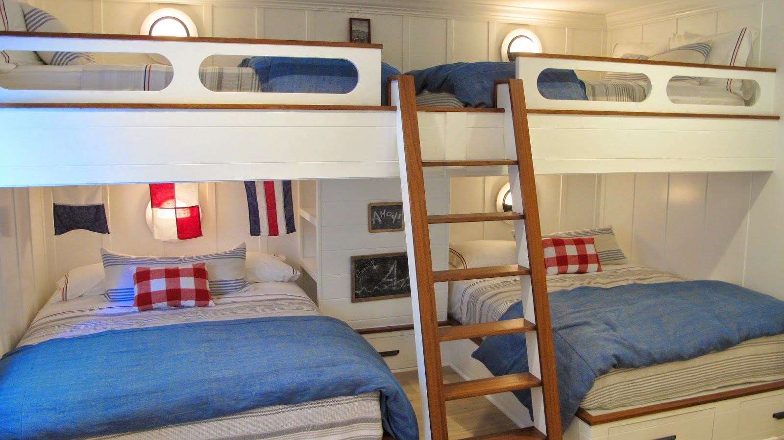 Nautical by nature coastal living showhouse basement - Show me pictures of bunk beds ...