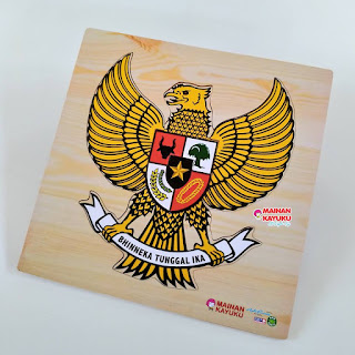 Puzzle Kayu Burung Garuda