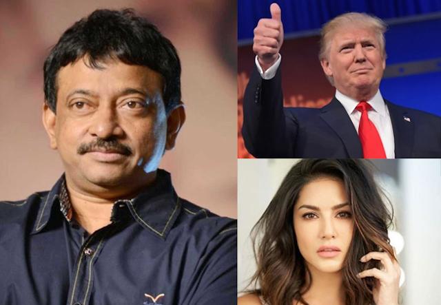 Sunny Leone, ram gopal varma donald trump, ram gopal varma, Donald Trump India Visit, donald trump 10 million people